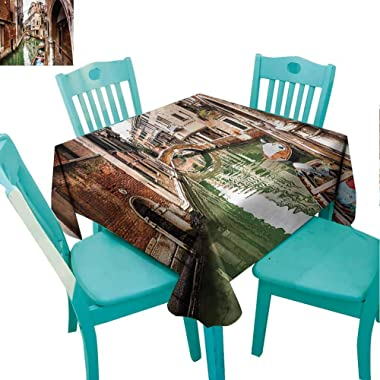 Zara Henry Venice Restaurant Tablecloth Famous Water Canal Boats Suitable, Styles and Sizes of tablecloths W55 xL55