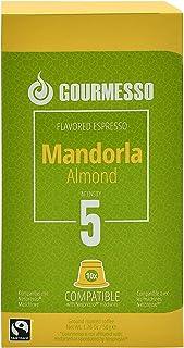 Mandorla (Almond) Aroma Espresso by Gourmesso - Nespresso Compatible Capsules , Fresh , Authentic , Rich & Bold Taste , De...