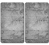 Kesper 36540 13 - Tabla de cortar de vidrio multiusos, 52 x 30 x 0,8 cm, color gris, Pack de 2