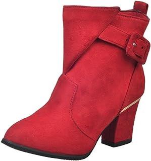 03ec665bbc Xinantime - Hebilla de Las Mujeres Tacones Altos Martin Shoes Botas de  Mujer Belt Warm Botines