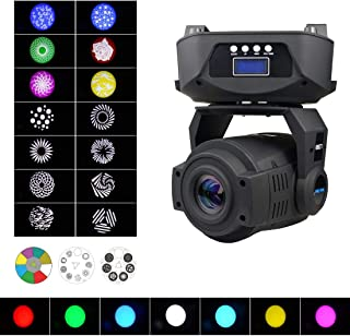 SevenStars Moving Head DJ Lighting, 90W 8 Colors 14 Patterns Led Spotlight, Professional Performance Strobe Light, DMX/Sound/Auto/Master-Slave, Light for Wedding, Party, Birthday, Disco and Events.