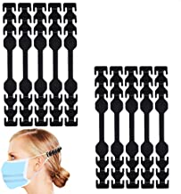 WOOKIT 10PCS Face Cover Strap Extender, Companion Accessory Hook Anti-Tightening Ear Protector Decompression Holder Hook E...