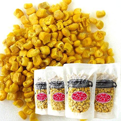 サクッと 甘いとうもろこし 4袋 無添加 無着色 フリーズドライの北海道産トウモロコシ 粒々80g(20g×4袋) スナックコーン