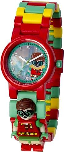 Reloj infantil modificable de LEGO Batman Movie. Emblemática figurita de LEGO Robin en la pulsera.