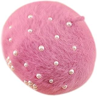 Freedi Women's Berets Pearl Knit Classic French Style Beanie Tam Hat Classic Winter Cap