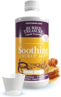 Buried Treasure Soothing Syrup ACF Wild Cherry Honey Soothing Throat and Respiratory Support Supplement Vitamin C and Demu...