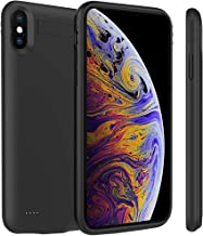 Battery Case for iPhone Xs Max 5200mAh, FNSON Portable Charger Case Protective Extended Battery Pack for iPhone Xs Max Charging Case for Apple iPhone Xs Max Power Bank (6.5 inch) - Black