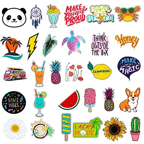 Bloodfin 30 modèles Mignon étanche Stickers muraux,Autocollant de bouteille d'eau Sac de voyage pour ordinateur portable autocollant beau et élégant Stickers (Multicolore)