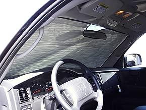 The Original Windshield Sun Shade, Custom-Fit for Dodge Dakota Truck (Extended Cab) 1997, 1998, 1999, 2000, 2001, 2002, 2003, 2004, Silver Series