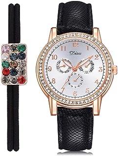 Wristband Women's Wrist Watches Ladies Series Girls Watch Female for Women Quartz Three-Eye Watch Hair Ring Diamond Alloy ...