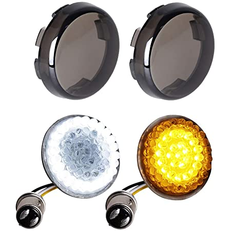 Motorcycle Bullet Turn Signals For Harley Dyna Fat Street Bob Wide Super Glide