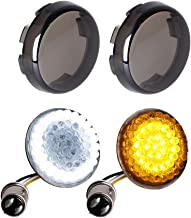 NTHREEAUTO Smoked Bullet Front Turn Signals LED Lights Panel Compatible with Harley Dyna Street Glide Road King Iron 883