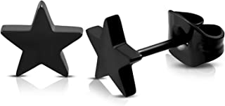 Stainless Steel Shining Shooting Star Stud Post Earrings