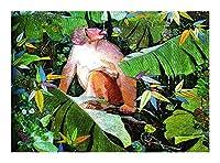 ジグソーパズル 木製の動物油絵シリーズジグソーパズル-ゴールデンモンキーパズル-子供の大人のための最高のギフト、ユニークなカット連動部分(300/500/1000個) BBJOZ (Size : 300pcs)