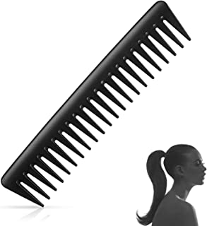Ealicere Black Carbon Wide Tooth Comb,Large Wide Tooth Detangler Comb for Wet or Curly Hair All Types Of Hair