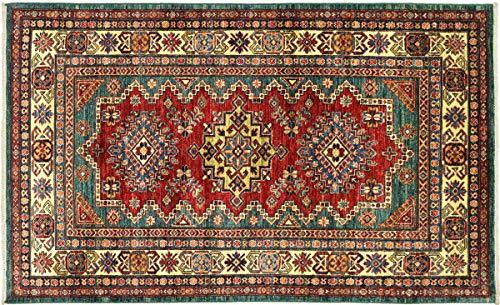Teppichprinz Alfombra oriental afgana Kazak fina, 181 x 120 cm, tejida a...
