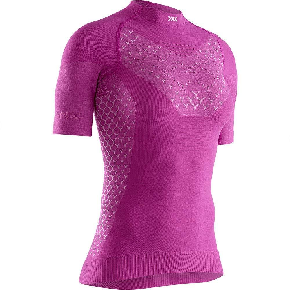 X-Bionic Damen Twyce 4.0 Run, Short Sleeve Shirt, Purple/Arctic White, XS