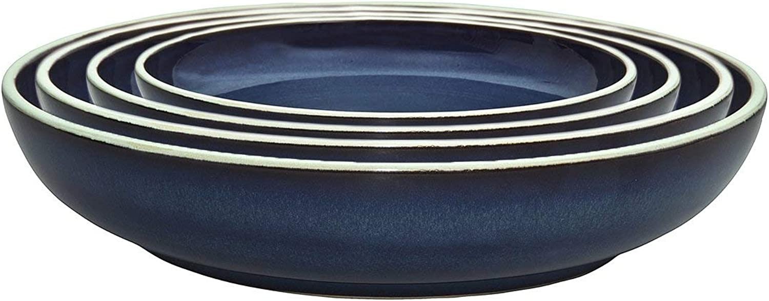 Denby USA Peveril Nesting Bowls (Set of 4), bluee