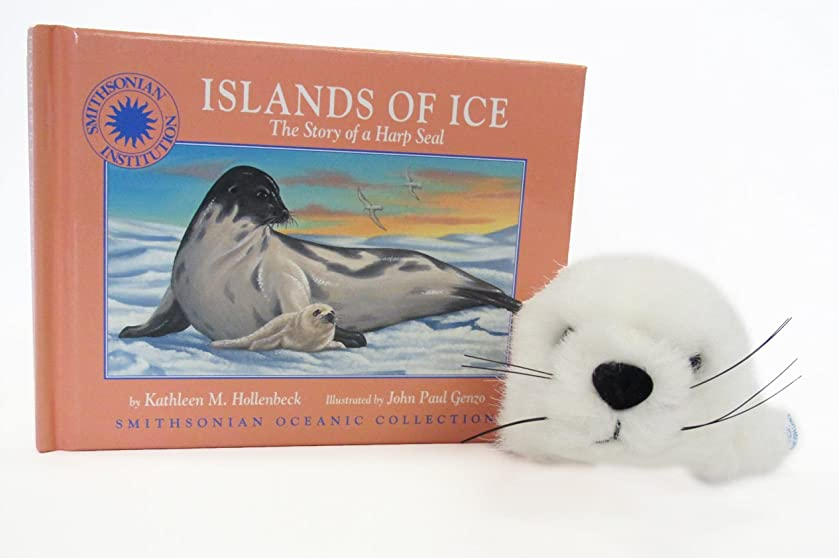 Islands of Ice: The Story of a Harp Seal - a Smithsonian Oceanic Collection Book (Mini book with stuffed animal toy)