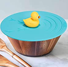 """Silicone Food Lid - 9"""" Dish Cover - Rubber Duck"""