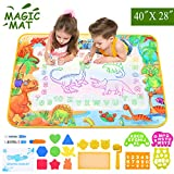 ZZLWAN Toddler Toys for 2 3 4 5 Year Old Girls Gifts, Aqua Magic Doodle Mat,Most Popular Learning Educational Toy Water Drawing Mat,Top Birthday Present for Boys Kids Age 6 7 8
