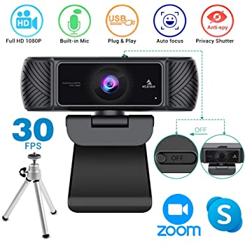 2020 [Upgraded] 1080P Webcam with Microphone, Privacy Cover and Tripod, NexiGo Pro USB HD Computer Web Camera with Mic for Skype Zoom Streaming, Mac PC Laptop Desktop Xbox OBS Twitch YouTube Xsplit