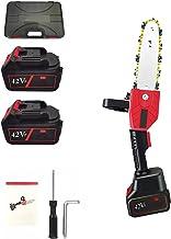 UNISOPH Motosierra eléctrica, 21V portátil recargable con una sola mano sierra eléctrica de mano con placa guía de 8 pulgadas