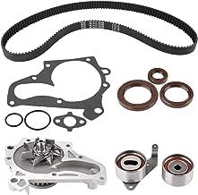 Qiilu Timing Belt for Toyota 1987-2001, Timing Belt Water Pump Kit Valve Cover Gasket for Camry 1987-2001, CELICA 1987-1999, RAV4 1996-2000, MR2 1991-1995, Solara 1999-2001, OE Number TCKWP199