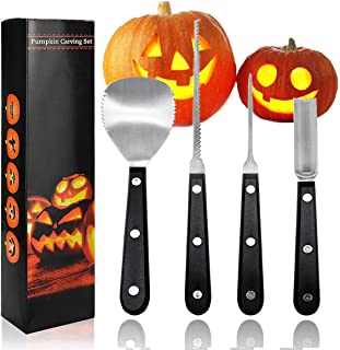 Pumpkin Carving Tool Kit Halloween Pumpkin Carving Knife Heavy Duty Stainless Steel Sculpting Set for Sculpting Jack-O-Lantern in Hallows' Day All Saints' Day
