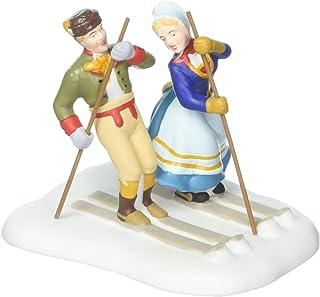 Department 56 Alpine Village Love on the Slopes Skiing Couple Figurine 4050905
