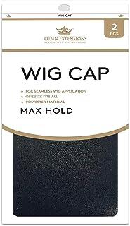 2 szt. czepek perukowy nylonowy czepek peruki od Rubin Extensions, zestaw czepków do peruki, oddychający, elastyczny elast...