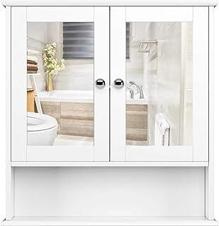 Homfa Armario de Baño con Espejo Armario de Pared Armario