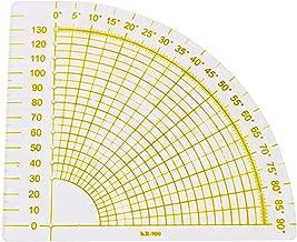 Ogquaton Modèle de règle Acrylique en Patchwork en Forme de Fan Accessoires de Couture Patchwork DIY.