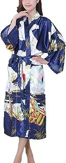 GGTFA Mujeres Kimono Túnica Larga De Estilo Albornoz Vestido De Ropa De Dormir Ropa De Dormir