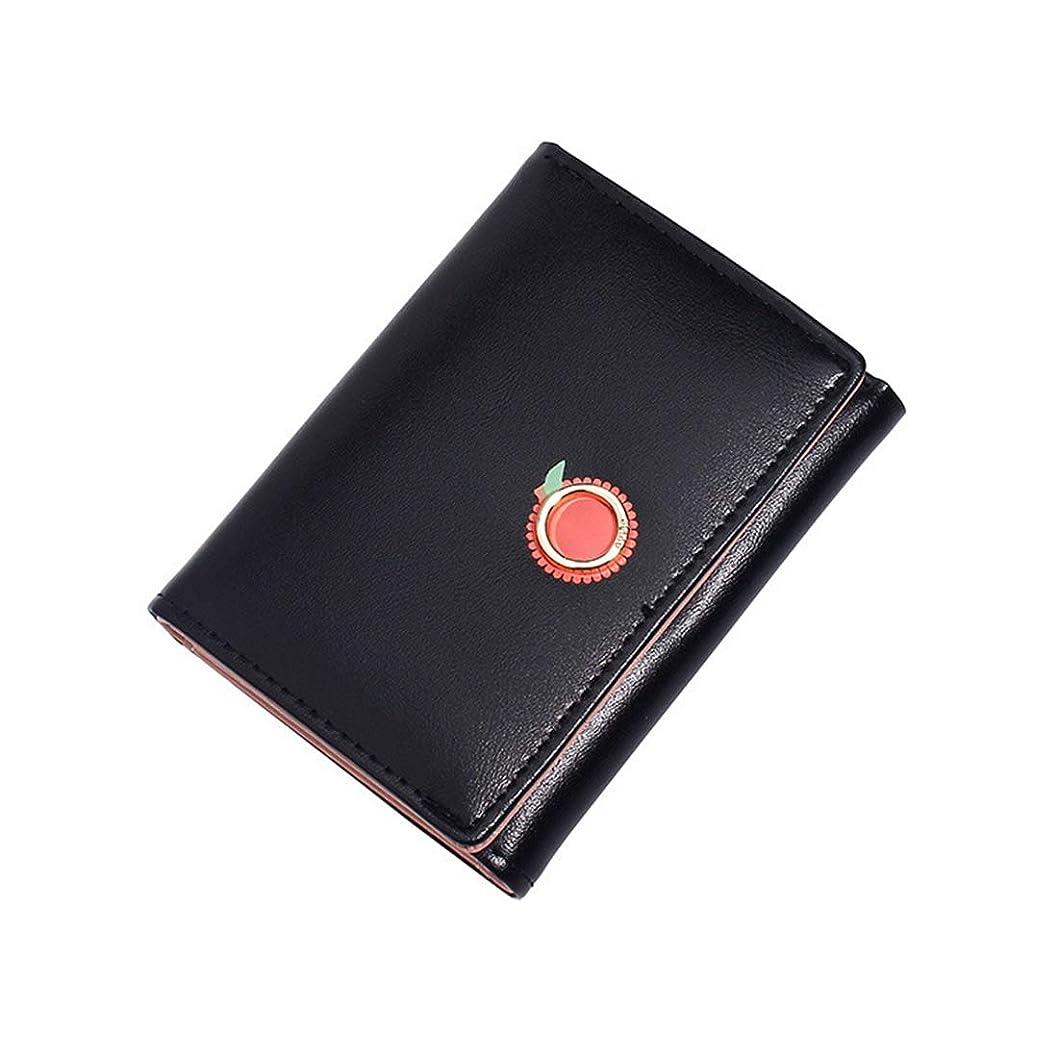 一目ところでねばねば財布 三つ折り レディース シンプル 可愛い 多機能 おしゃれ ウォレット 小銭入れ カード入れ 札入れ 誕生日 感謝の日 女の子 パープル グリーン ブルー ブラック ピンク シルバー
