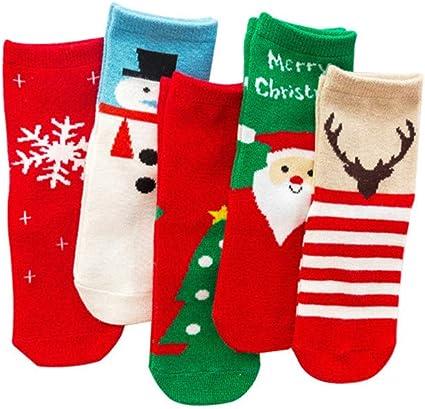 Cartoon Kinder Baumwolle Weihnachtssocken Weihnachtskostüm Xmas Party Baby Y5Y4
