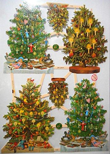 Tannenbaum Weihnachten EF 7390 Glanzbilder Oblate Posiebilder Scrapbook Deko GWI 528