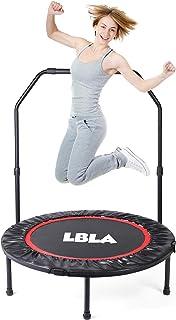 comprar comparacion LBLA Trampolín Fitness Plegable 96 cm con Apoyabrazos Ajustables Trampolín para Niños Adultos Gimnasio Interior Equipamien...