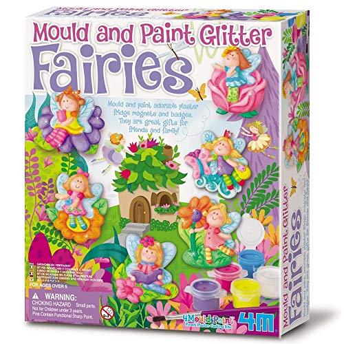 CRAFTY CAPERS Molde y pintura con purpurina para manualidades - Hadas