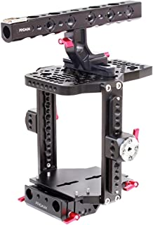 Proaim muffle profesional aluminio Cámara Jaula para Arri Alexa Mini cámara con la OTAN asa superior la OTAN raíles laterales roseta y placa de 15mm trípode de base (cg-019–00)
