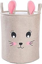 Collapsible Round Storage Bin,Large Round Storage Basket,Clothes Laundry Hamper,Toy Storage Bin, Fabric Basket with Durabl...