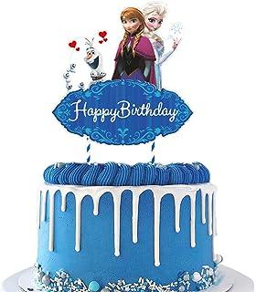 6pcs Frozen Cake Topper Figures Set,Frozen Cake Decorations For Frozen Party Supplier Birthday