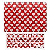 Carcasa rígida de plástico y cubierta para teclado compatible con MacBook New Pro 13 Touch (modelos:), diseño de corazones rojos con diseño romántico de lunares, color rojo