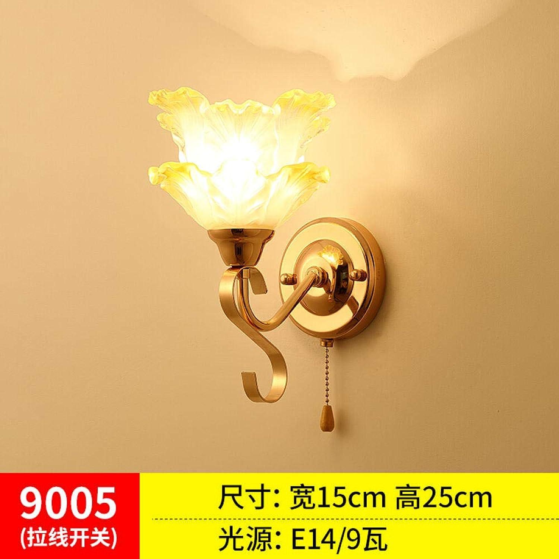3D Nachtlicht Einfache Wandleuchte Mit Zugschalter Zugseil Nachttischlampe Deko Licht @ 7 Zugseil 9W Hellgelb