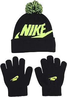 Nike Boy's 2-Piece Swoosh Pom Hat & Gloves Set