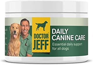 Dr. Jeff's Daily Canine Care - Vet-Formulated Powder Supplement for Dogs – with 10 Strains of Probiotics and L-Carnitine f...