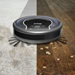 Shark ION Robot App-Controlled Robot Vacuum, RV761 - Black/Navy Blue (Renewed) 10 Schedule cleanings and control robot with Shark Clean(tm) app, Alexa, and Google Assistant. Powerful cleaning with more suction than Shark RV750. Multi-surface brushroll captures debris and hair on carpets and hard-floors.