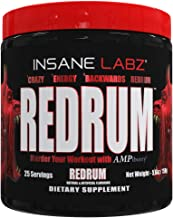 Insane Labz Redrum High Stim Pre Workout NO Booster Powder, Loaded with Infinergy Agmatine Sulfate Taurine Fueled by AMPiberry,OXYgold,Focus Strength Recovery,25 Srvgs,Redrum Grape