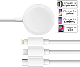 Apple Watch Series Charger Cable 3 in 1 iwatch Charging iPhone Fast Charger Compatible USB Type c Cable Charger Phone ipad Charger Apple Watch Wireless Series 3/4/5 Portable Travel Charger