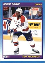 1991-92 Score Canadian Bilingual Hockey #350 Reggie Savage RC Rookie Card Washington Capitals Official NHL Trading Card From Pinnacle